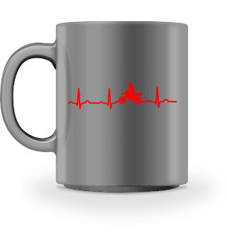 GIFT - ECG HEARTLINE MOTORBIKE RED