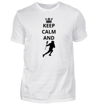 geschenk keep calm and lacrosse