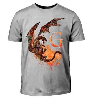 Drachen Buchstabe G (Kinder T-Shirt)