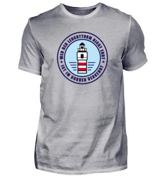Leuchtturm T-Shirt (blaue Schrift)