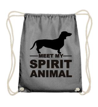 Meet my spirit animal - dachshund black