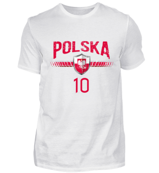 POLEN FAN-SHIRT Nationalfarben Fußball
