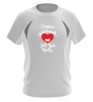 Heart Mouth Funny Quote Gift