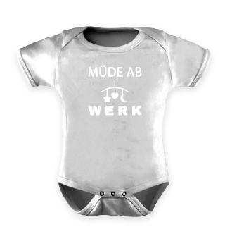 Baby Müde ab Werk - Baby Body kurzarm