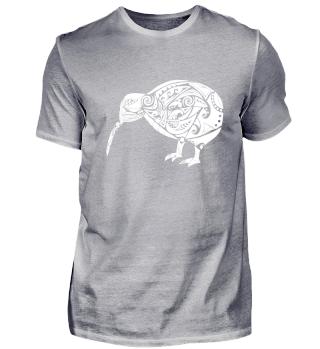 Maori Kiwi Bird White - Gift Idea