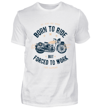 Born to ride - Retro Motorrad Shirt