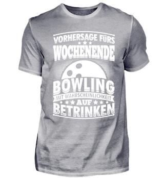 Lustiges Bowling Shirt Vorhersage Furs