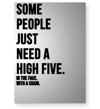 Poster Spruch High Five Geschenk