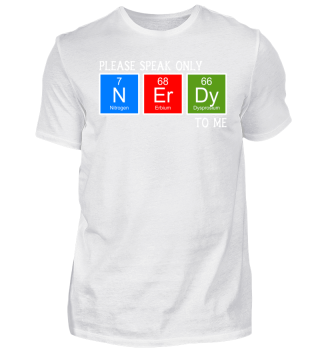 Chemical Elements - speak NERDY - white