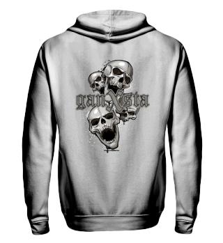 ganxsta 4 skull Zipper