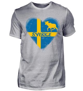 Sverige Schweden Herz Männer T-Shirt
