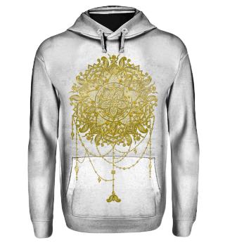 Dotwork Tattoo Mandala 5 - gold