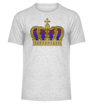 Royal Cross Crown - Gold Red Purple