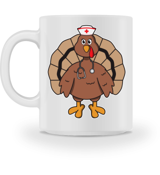 Happy Thanksgiving Turkey Nurse Gift