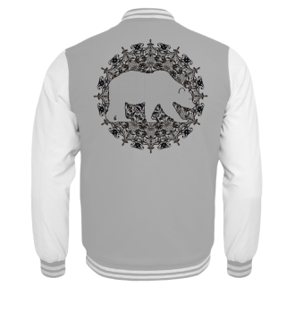 ♥ Vintage Mandala I Bear I - black