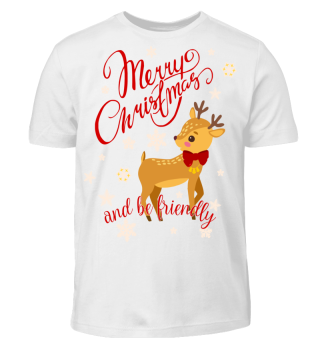 ★ Merry Christmas Fawn Snowflakes III
