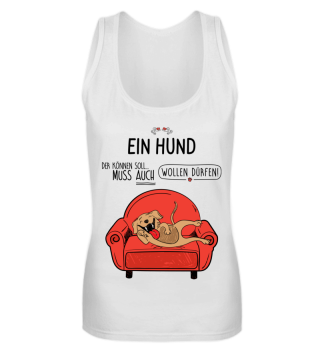 Ein Hund der-Sofa, Tanktop
