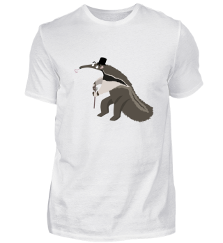 Lustiger Ameisenbär mit Stock - Shirt