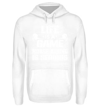 Funny Horse Riding Shirt Life is a Game