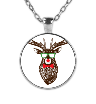 Cool Reindeer Nerd Christmas Geek Gift