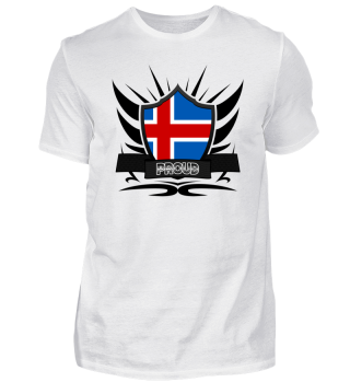 Island-Iceland Proud Wappen Flag 011
