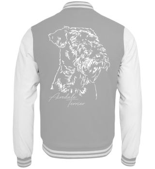 Collegejacke AIREDALE TERRIER Portrait