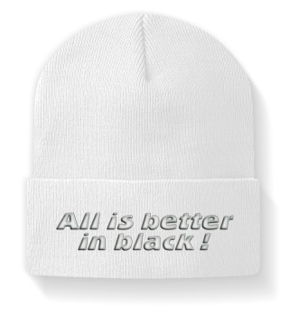 ♥ Embroidery - All is better in black
