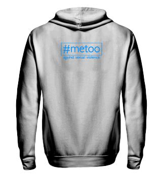 metoo - against sexual violence - blau
