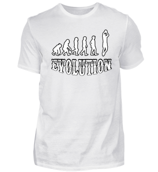 evolution Basketball spielen tshiirt