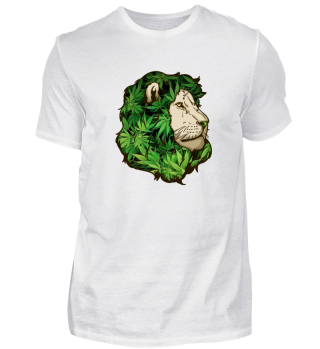Weed Cannabis Lion Shirt