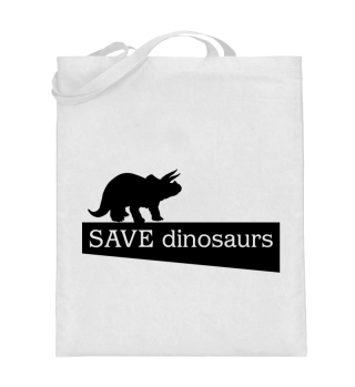 SAVE dinosaurs - black