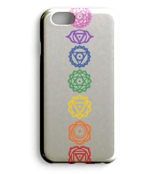 7 Chakra Symbole - Farben - phone