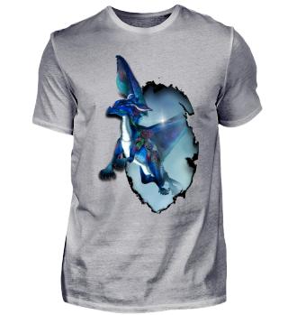 Kleiner blauer Drache