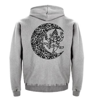 ★ Mandala Half Moon - Dancing Ganesha 1