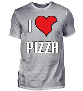 i love Pizza Herz weiß