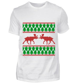 UGLY ELK MOOSE CHRISTMAS TREE GIFT