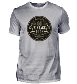 40th Birthday 1978 Vintage T-Shirt Gift