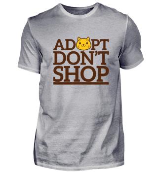 Adopt don't shop cat t-shirt
