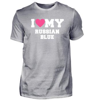 I love my Russian Blue Cat