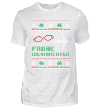 Schwimmen Schwimmer Shirt Weihnachten