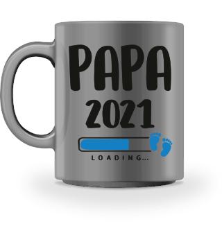 Tasse - Papa 2021 Loading Vater werden