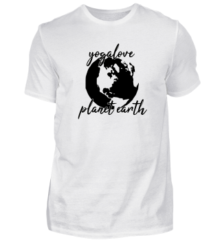 Yogalove - planet earth - yoga shirts - meditation - geschenk