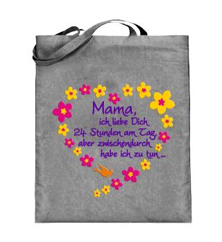 ☺ Mama Ich Liebe Dich - Blüten Herz 1a