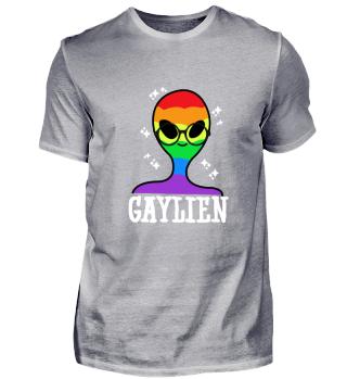 Lustig Gaylien LGBT Flagge Geschenk
