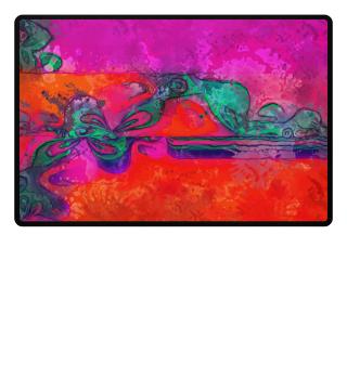 Art Deco Grunge Flowers Wallpaper IV