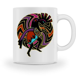 Kokopelli - Wheel Of Energy Mandala Ia