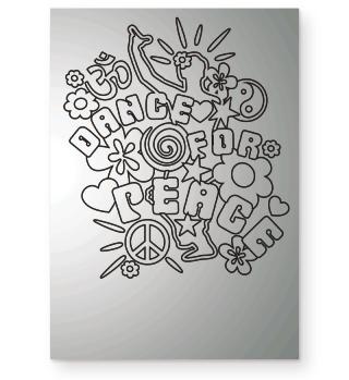 Dance For Peace - ausmalen schwarz 1