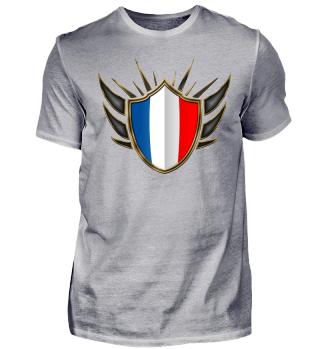 Frankreich-France Wappen Flagge 014