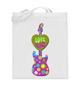 Flower Power Retro - Love Peace Guitar 2