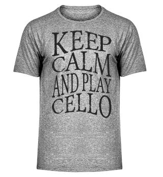 ★ KEEP CALM And Play Cello Grunge 1